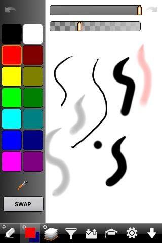 También puede ajustar los colores. Observe que hay dos colores abajo. Una de ellas es el color frontal y uno el color de fondo. Esto hace que sea fácil de intercambio entre dos colores.