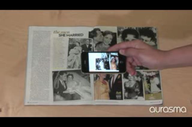 Coloque un vídeo a través de una fotografía del anuario.