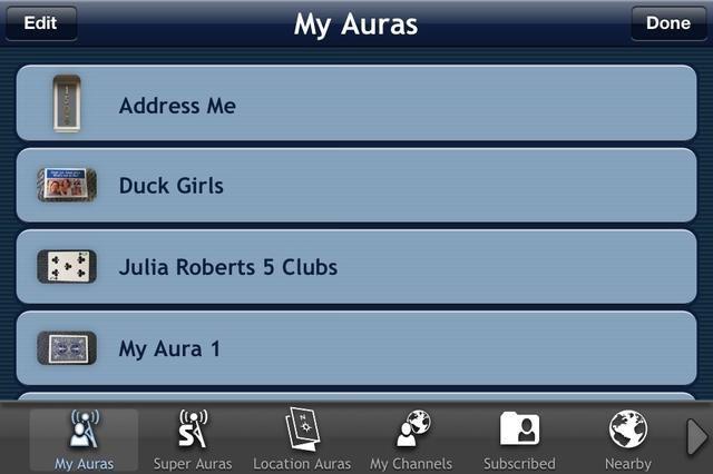 Vaya a Mi Auras para una lista de Auras que've created.