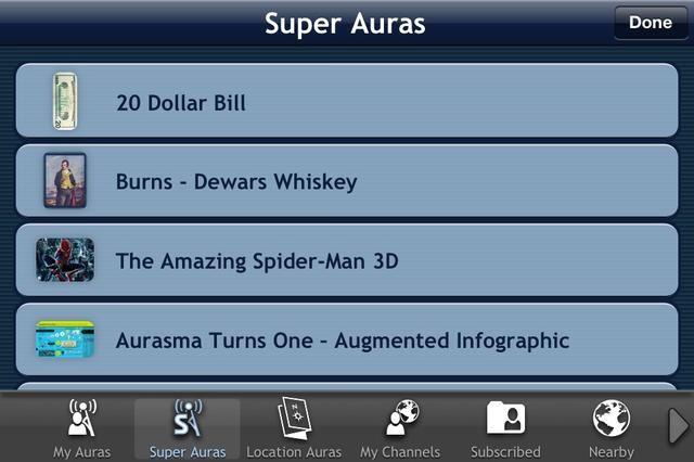 Súper Auras están listos auras hechas. Por ejemplo punto en un billete de $ 20 y ver una animación alguien fresco creado. Toque en el que usted desea utilizar y luego cuando se expande toque de nuevo para
