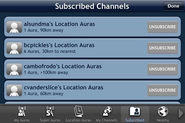 Canales I've subscribed to.