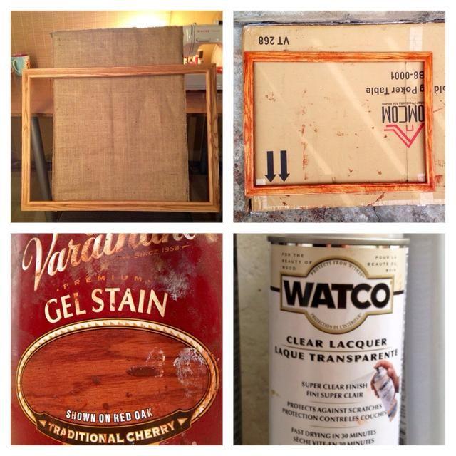 Con mi marco lijé ella. Entonces barnizada con un bonito color cereza tradicional. Una vez seco utilizo una laca clara y dejar secar durante la noche.