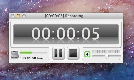 Cuando haya terminado la captura de su grabación de la pantalla, pulse el botón de grabación de paro del panel de grabación. También puede utilizar el botón de pausa si tiene que parar y continuar por la razón que sea.