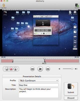 Como se puede ver aquí, el inicio y el final de la captura de pantalla se han cambiado con los controles deslizantes.