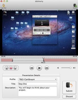 Cuando esté satisfecho con la grabación, haga clic en el botón de envío / hecho en la parte inferior derecha de la ventana. Si usted no está satisfecho con la grabación se puede desechar y comenzar de nuevo.
