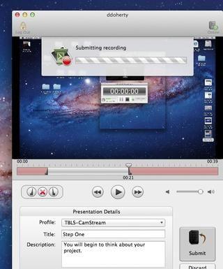 La grabación se ha subido al servidor si está en línea y conectada a su cuenta o si usted está utilizando la unidad portátil en el archivo se guardará en la unidad portátil.