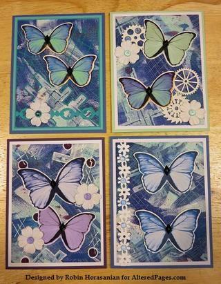 El conjunto completo de cuatro cartas.