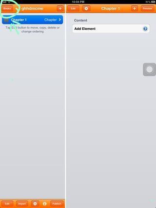 cuando la aplicación está abierta, vaya a la parte superior izquierda, haga clic en el icono de libro. (si se hace clic sobre la foto podrás ver la imagen superior)