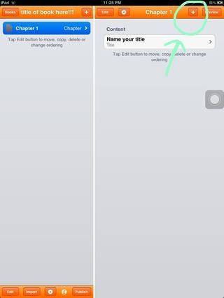 a continuación, toque el botón + en la esquina superior derecha para agregar un párrafo, imagen o vídeo.