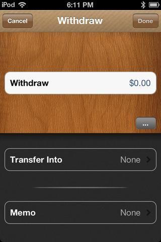 Escriba la cantidad de dinero que desea retirarse de la envolvente.
