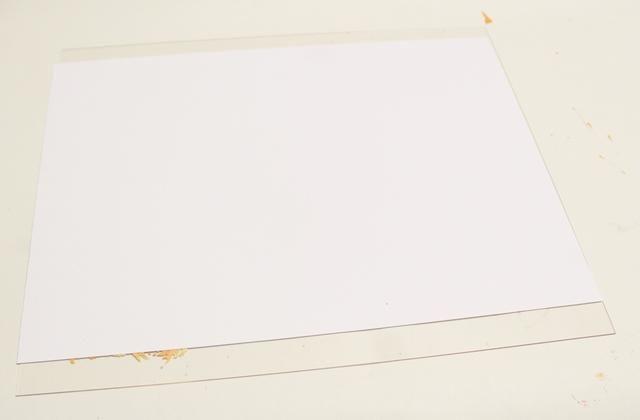 sentar cartulina sobre Monoprint Plate ...