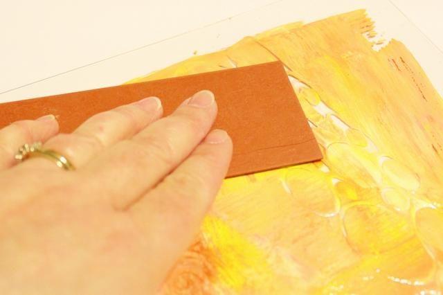 prensa de moldeo Mats en la tinta para crear patrones ...