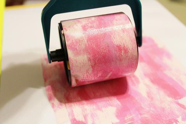 utilizar la rueda de color y de la manija para mezclar tintas en la paleta ...