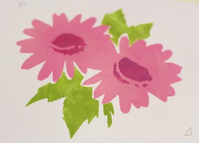 cinta en hojas plantilla, a juego marcas de registro. luego las hojas de tinta utilizando una punta limpia con el Stylus y sistema de calor ...