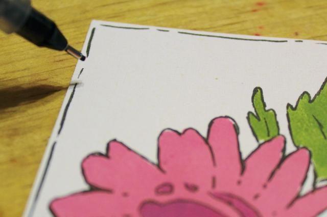recortar pedazo de flor para medir alrededor de 4