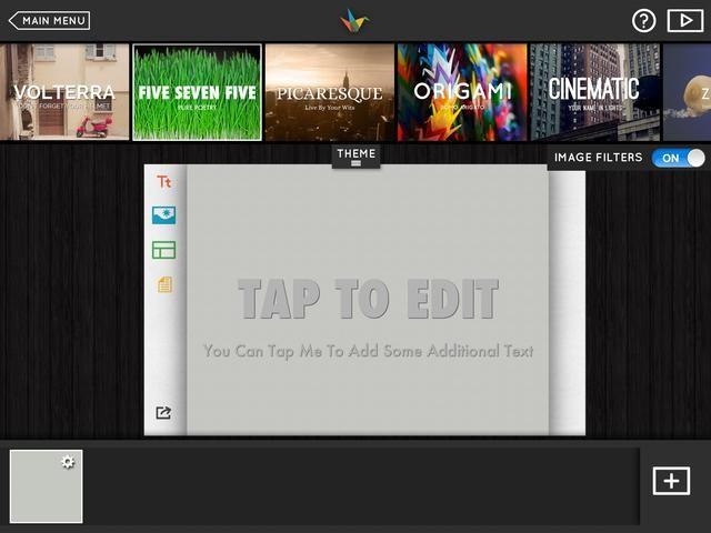 Elija un tema mediante la ficha tema en la parte superior. Puede cambiar el ellos en cualquier diapositiva.