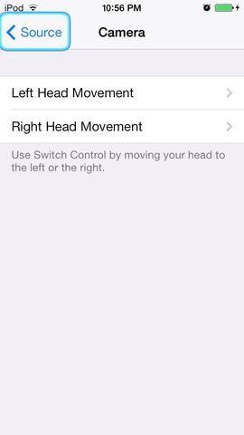 Elija la forma en que desea mover su cabeza para activar el control. No puede haber una para cada uno.