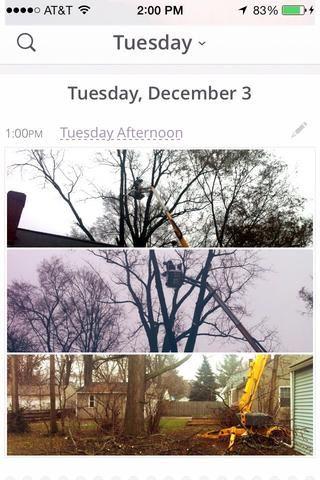 Todos los videos y fotos tomadas en un día en un solo lugar se mostrarán en ese día.