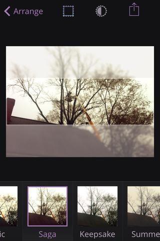 También puede agregar imágenes FX a sus fotos en la aplicación.