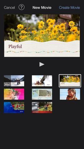 iMovie iOS 7 tiene un nuevo diseño elegante y minimalista que hace que sea fácil crear hermosas vídeos.
