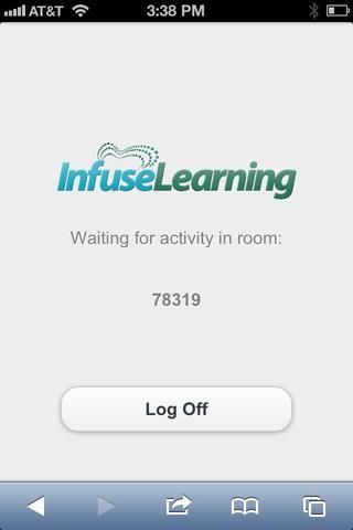 Estudiante Ver: Para volver a la InfuseLearning abierta a los estudiantes de sesión pueden simplemente navegar hacia la ventana InfuseLearning abierto (en lugar de pulsar el Botón de vuelta ganó't work).