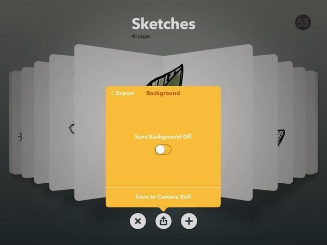 Guardar en el rollo de la cámara con el fondo fuera. Puede tarde capa / collage en otra aplicación o en Keynote para sus presentaciones, por ejemplo.