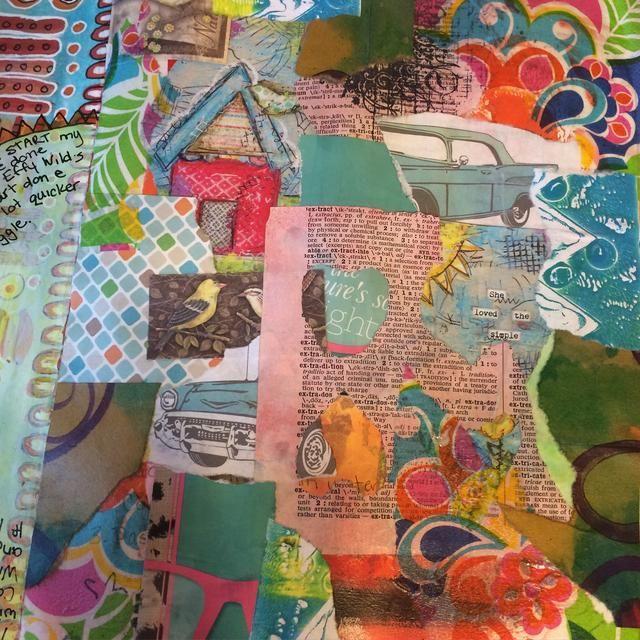 Este es el resultado de collage mis papeles a mi página.