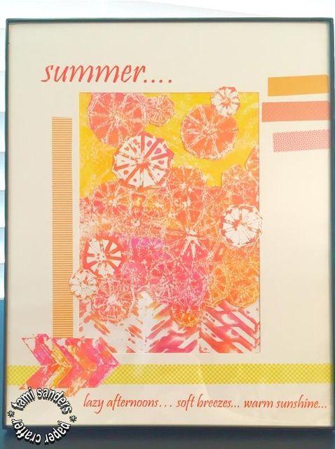 Cómo utilizar placas Monograbado De GRAFIX * collage del verano