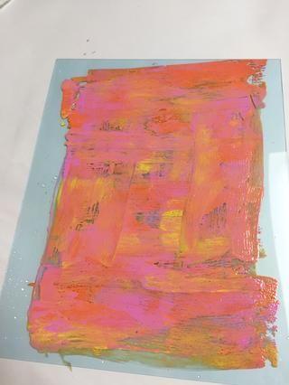 tintas separadas utilizando la rueda del arte.