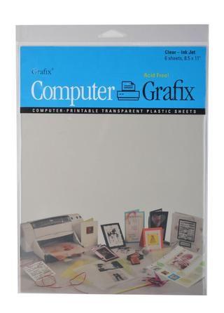 Grafix Informática por Grafix viene en claro y mate, así como en el dorso adhesivo. que puede ser utilizado para una variedad de técnicas para añadir detalles especiales para sus proyectos.