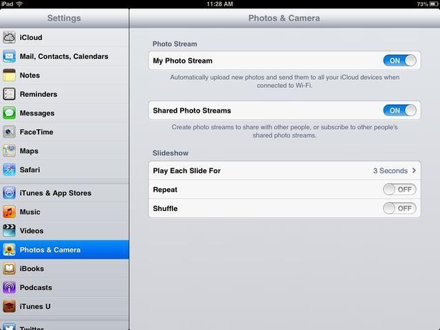 Hay una configuración similar en las fotos y la cámara.