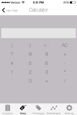 Construido en función de calculadora para averiguar fácilmente el número de unidades que usted está comprando o vendiendo