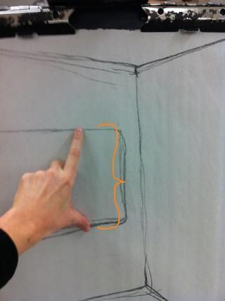 Cree la misma unidad de medida en su dibujo.
