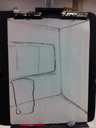 Al dibujar las cosas difíciles, recurrir a la línea de dibujo del contorno. Sólo esbozar la cosa.
