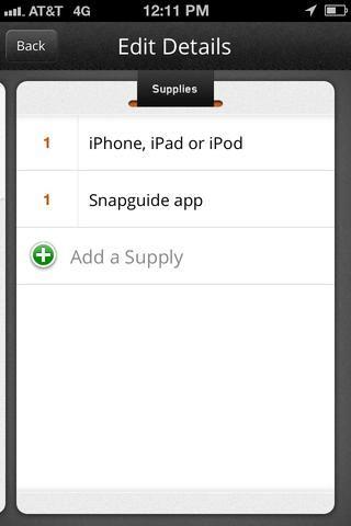 Algún tipo de dispositivo que tenga acceso a la tienda de aplicaciones y la aplicación Snapguide.