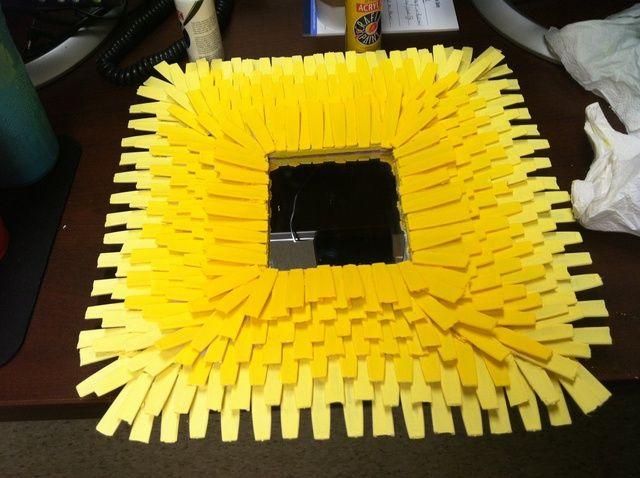 Cómo utilizar los palillos Cuchara para Sunburst Espejo Arte