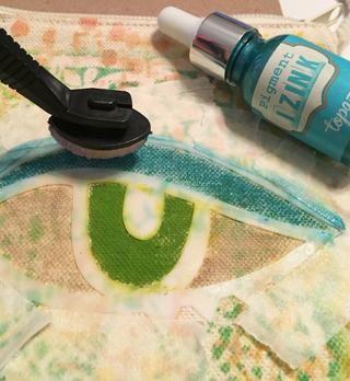 y utilizar Topaz Izink rellenar sombra de ojos.