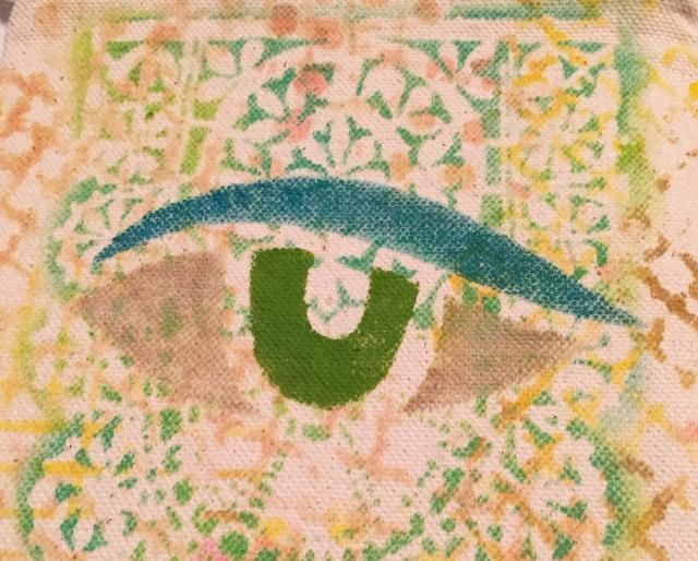 diseño del ojo entintado.