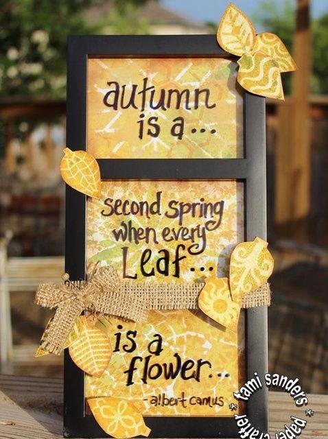 Fotografía - Cómo utilizar TCW plantillas para crear un otoño Decoración pieza