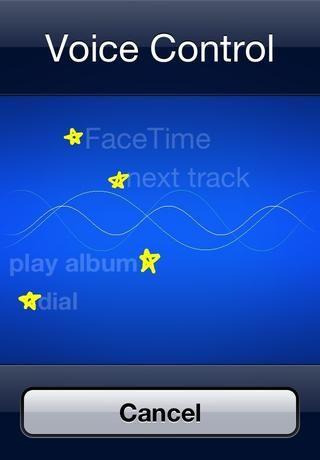 Para ello, sólo tiene que mantener el botón de inicio abajo (situado en la parte inferior del iPhone) para un buen 3-4 segundos hasta que esta pantalla azul aparece! Ahora acaba de decir su comando!