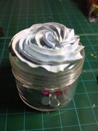 Esta es azotado crema en estilo plana.