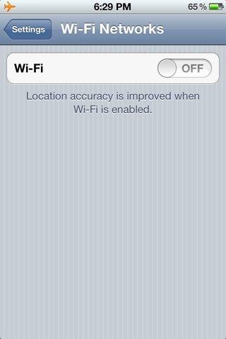 En segundo lugar, haga clic en wifi y verá que está desactivado.