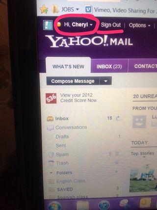 Ahora usted podrá ver su nombre cuando haya iniciado sesión en su correo electrónico.