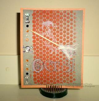 Yo enmarañado mi imagen en cartulina, agregué adornos e hice una tarjeta.