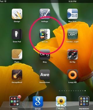 Aplicación abierta que le gustaría utilizar en modo de exposición.