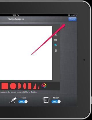 Aplicación Open y haga clic en el botón de inicio en tres ocasiones. Aquí aparecerá en la parte superior e inferior. Seleccione inicio o reanudar en la esquina superior derecha.