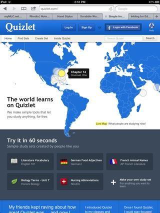 Quizlet le permite realizar pruebas para sus alumnos, y ellos pueden hacer su propio. Grande para la clase y el estudio independiente.