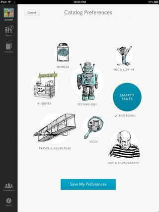 Esta es la menor idea. Esta aplicación ofrece libros de texto interactivos iPad.
