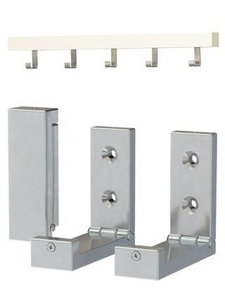Los ganchos que utilicé también vino de IKEA, se les llama TJUSIG y BJÄRNUM