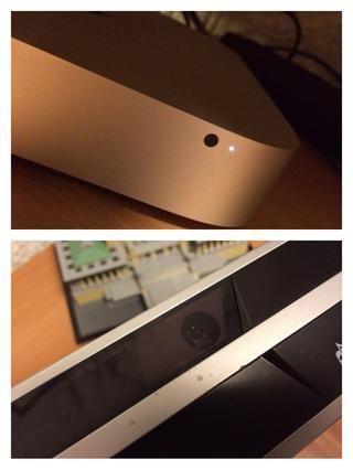 En caso de no tener suerte: el infrarrojo-receptor en su dispositivo necesita para hacer frente a la titular de la servilleta. En el Mac Mini es fácil de detectar (punto negro), pero en otros dispositivos puede ser que sea más difícil ...